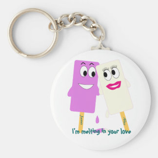 Valentine's Day Funny ice cream Keychain