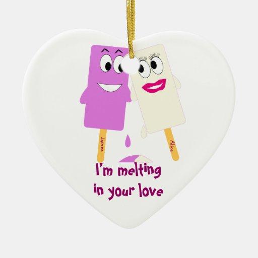 Valentine's Day Funny ice cream Ornament