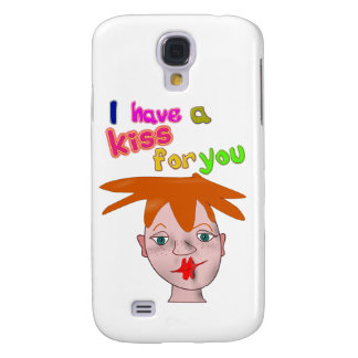 Valentine's Day funny kiss 3G/3GS Cas Galaxy S4 Cover