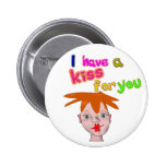 Valentine's Day funny kiss Button