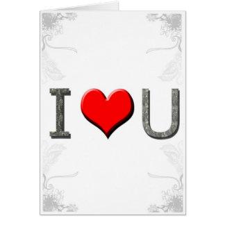 Valentine's Day I Love U Card