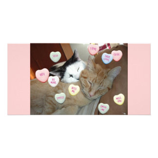 Valentine s Day Kittens Customized Photo Card