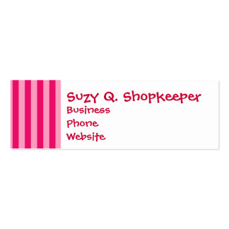 Valentine s Day Love You Pink Red Stripes Gifts Business Cards