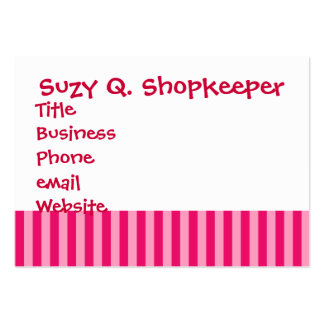 Valentine s Day Love You Pink Red Stripes Gifts Business Card