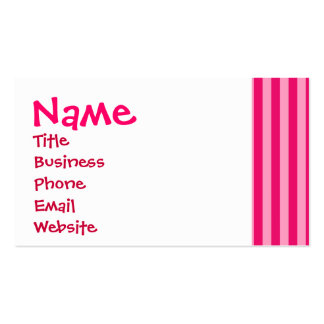 Valentine s Day Love You Pink Red Stripes Gifts Business Card Templates