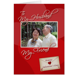 Valentine s Day My Husband - Photo card template