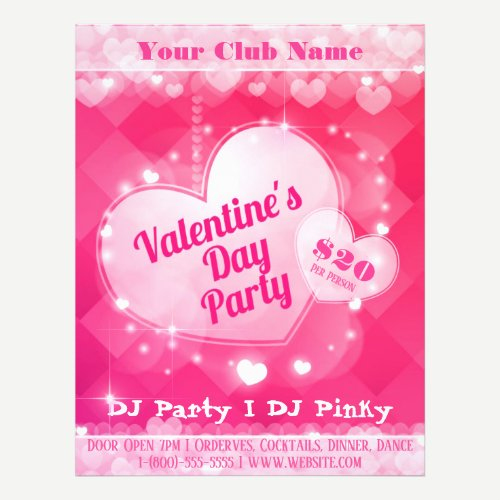 Valentine's. Day Party Flyer