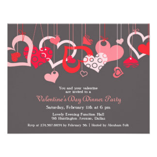 Valentine s Day Party Invitation Flat Card