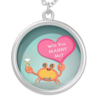 Valentine`s Day Proposal Engagement  Necklace