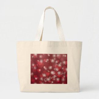 Valentine s day red heart for the romantic large tote bag