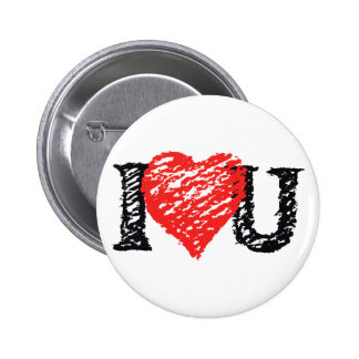 Valentine s Day Scribble Pinback Button