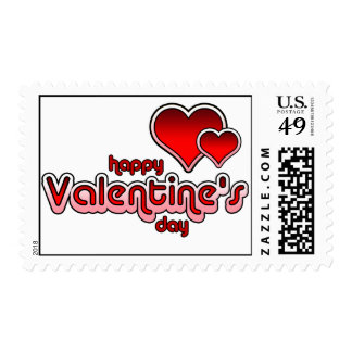 Valentine's Day Seventies Retro Postage Stamp