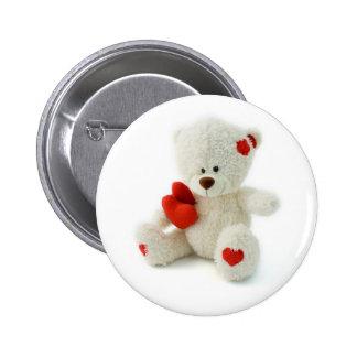 Valentine's Day Teddy Bear Button
