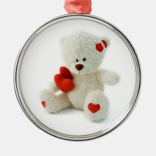 Valentine's Day Teddy Bear Ornament