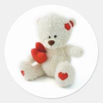 Valentine's Day Teddy Bear Sticker