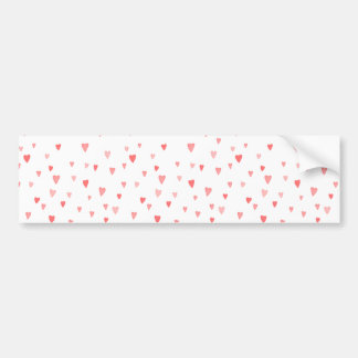 Valentine's Girly Pink Love Hearts Pattern Car Bumper Sticker