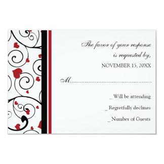Valentine`s Wedding RSVP Card