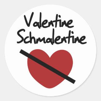 Valentine Schmalentine Classic Round Sticker