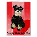 Valentine Schnauzer Dog Card