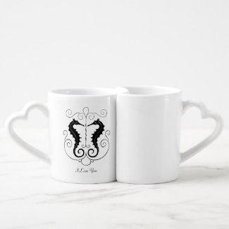 Valentine Seahorses Couples Mug