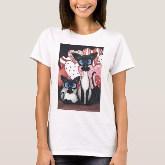 Valentine Siamese Cat - Love x's Two T-Shirt