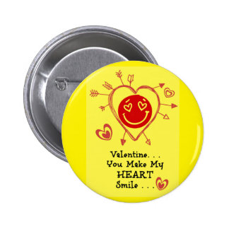 Valentine - Smiley Heart Buttons