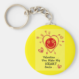 Valentine - Smiley Heart Keychains