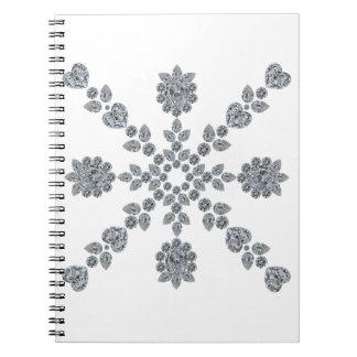 Valentine Snowflake Spiral Notebook