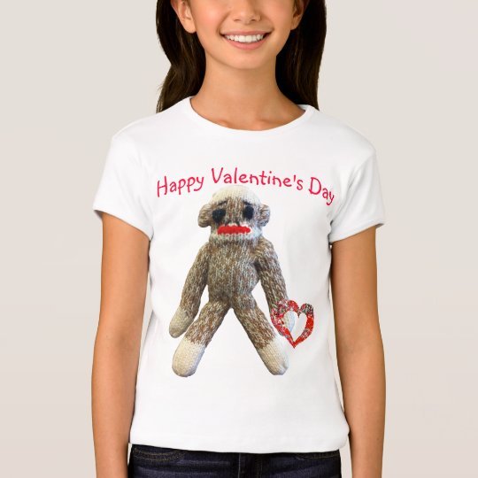 Valentine Sock Monkey for kids T-Shirt