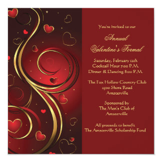 Valentine Splash Invitation