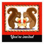 Valentine squirrels personalized announcement