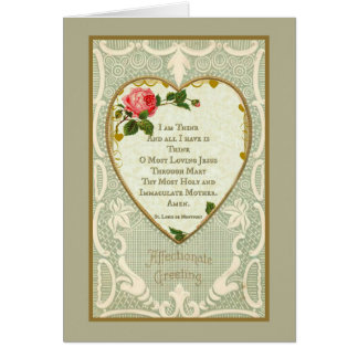 Valentine St. Louis De Montfort Prayer Card