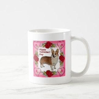 Valentine Standing Dott Hearts & Roses Coffee Mug
