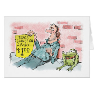 Valentine street person & his money-making frog card