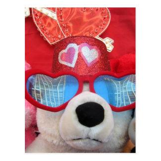 Valentine Stuffed Animals Postcard