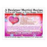Valentine Surprise Martini Recipe Postcard