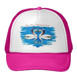 Valentine Swan Collection Mesh Hats