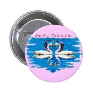 Valentine Swan Collection Pinback Button