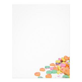 Valentine Sweet Heart Candy Letterhead
