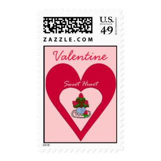 Valentine Sweet Heart Postage Stamp