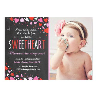 Valentine Sweetheart Birthday Party Invitation