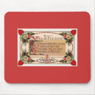 Valentine Sweetheart Verse Mouse pad