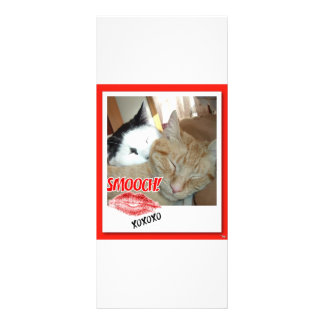 Valentine Tabby Cats Rack Card