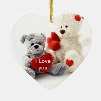 Valentine Teddy Bear Valentine Ornament