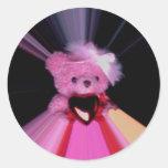 valentine teddy Photo 9776 Round Sticker