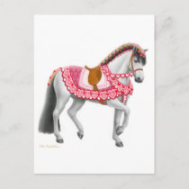 Valentine the Parade Horse Postcard