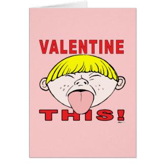 Valentine This!  Boy Card