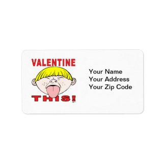 Valentine This!  Boy Label