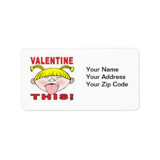 Valentine This!  Girl Label