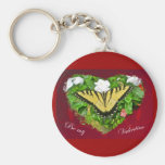 Valentine Tiger Swallowtail Butterfly Items Key Chains